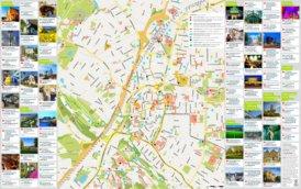 Touristischer stadtplan von Bielefeld