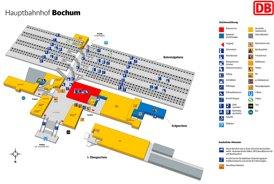 Bochum Hauptbahnhof plan