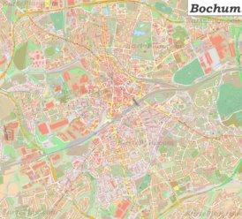 Große detaillierte stadtplan von Bochum