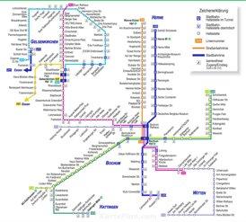 Schienennetzplan Bochum