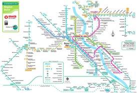 Bonn S-Bahn und U-Bahn plan