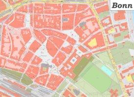 Karte von Bonns Zentrum