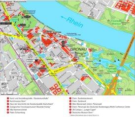 Stadtplan Bundesviertel - Bonn