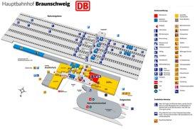 Braunschweig Hauptbahnhof plan