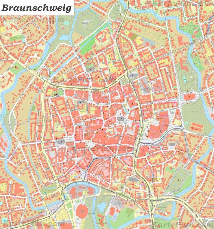 Karte von Braunschweig-Innenstadt