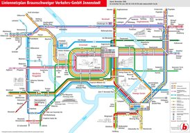 LinienNetzPlan Braunschweiger Innenstad