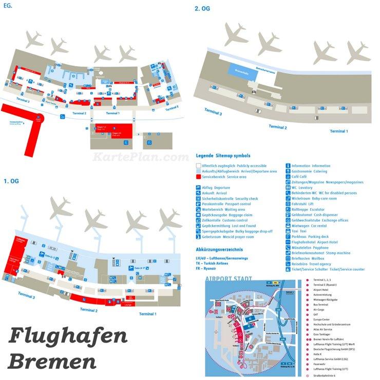 Flughafen Bremen Plan