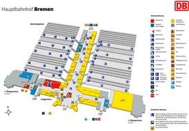 Bremen Hauptbahnhof plan