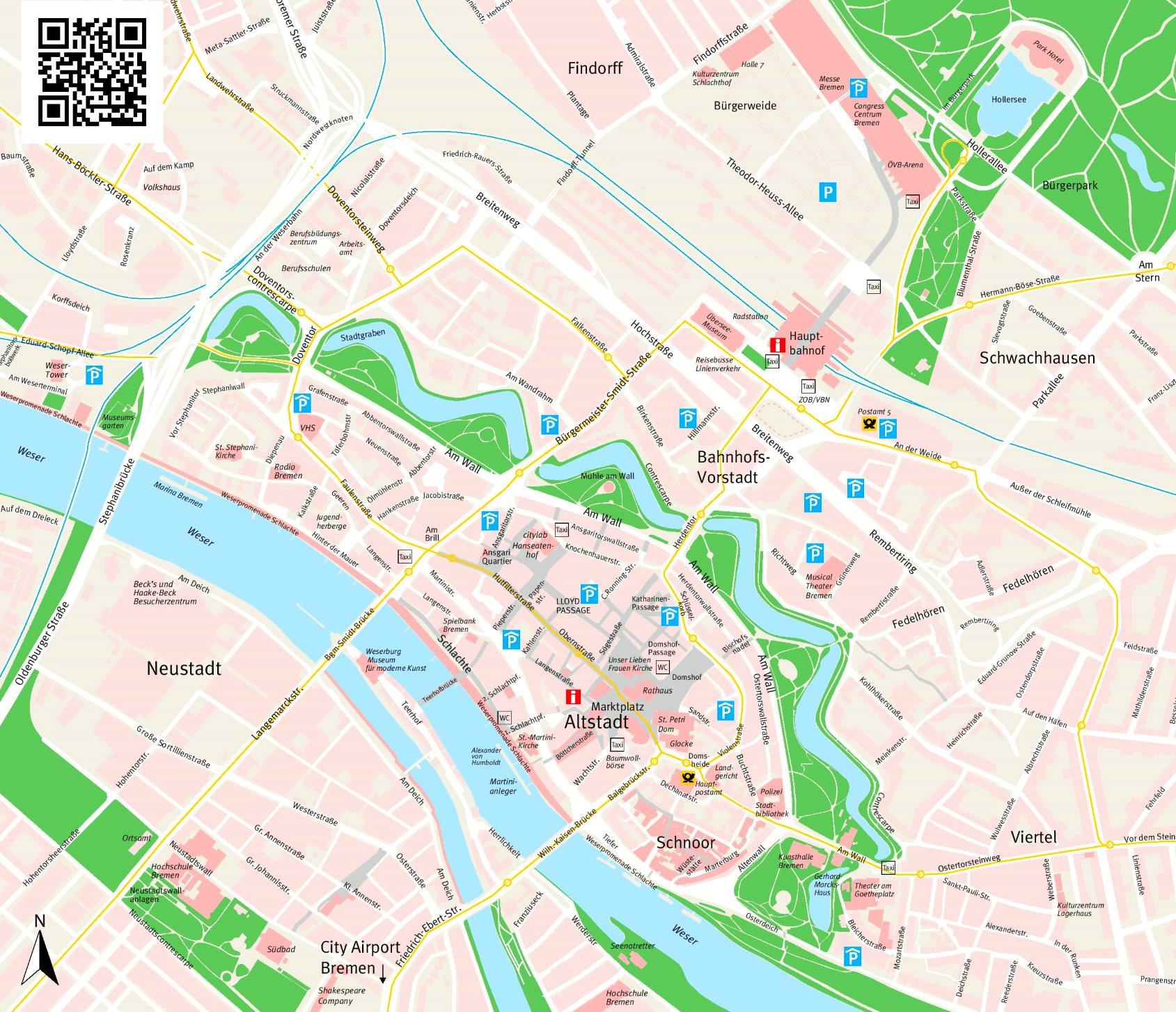 karte bremen innenstadt Bremen Innenstadtplan