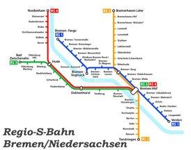Bremen S-Bahn plan