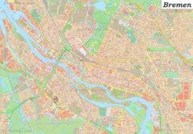 Große detaillierte stadtplan von Bremen