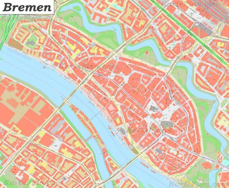 Karte von Bremens Zentrum