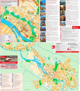 Touristischer stadtplan von Bremen