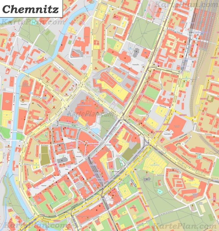 Karte von Chemnitz-Zentrum