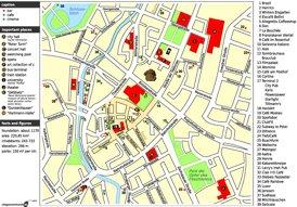 Touristischer stadtplan von Chemnitz