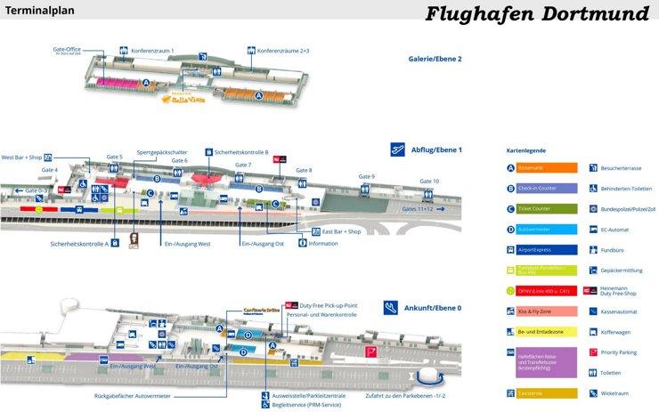 Flughafen Dortmund Plan