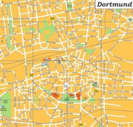 Dortmund Innenstadtplan mit sehenswürdigkeiten
