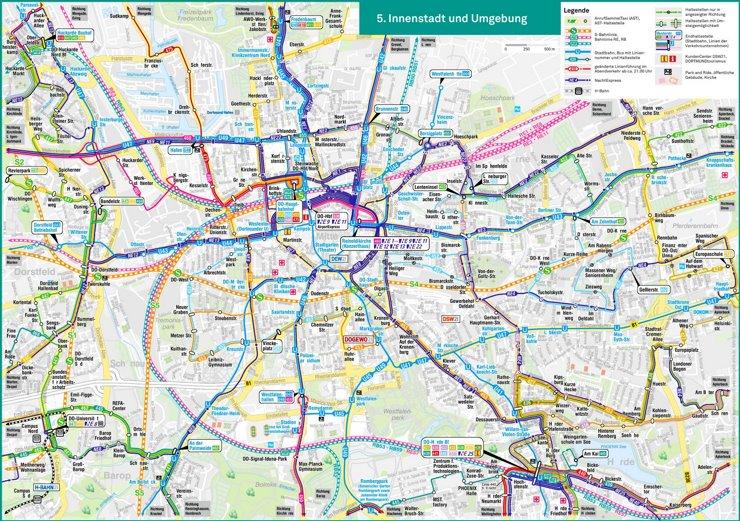 Dortmund S-Bahn und U-Bahn plan