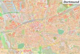 Große detaillierte stadtplan von Dortmund