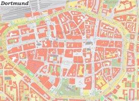 Karte von Dortmunds Zentrum