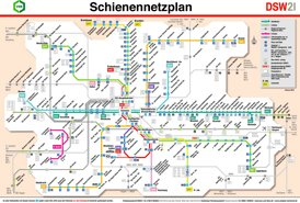 Schienennetzplan Dortmund