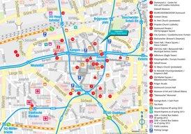 Touristischer stadtplan von Dortmund