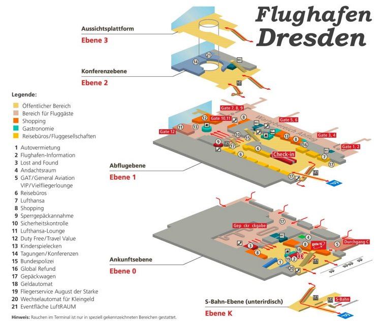 Flughafen Dresden Plan
