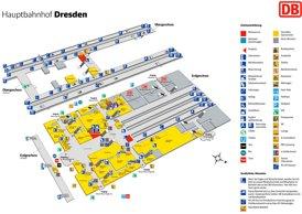 Dresden Hauptbahnhof plan