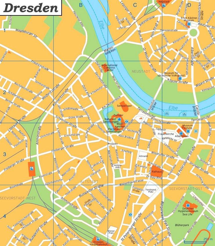 Dresden Innenstadtplan