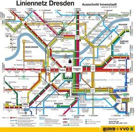 Dresden Straßenbahn plan