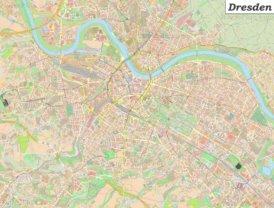 Große detaillierte stadtplan von Dresden