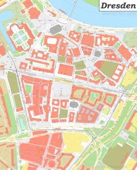 Karte von Dresdens Altstadt