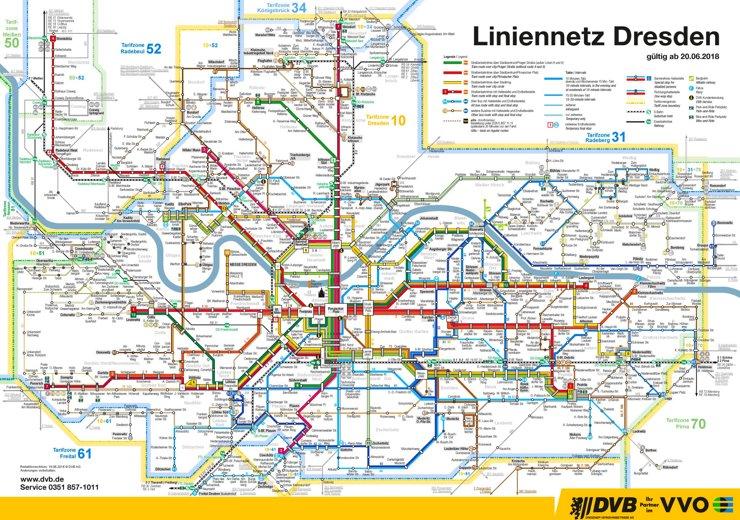 Liniennetzplan Dresden