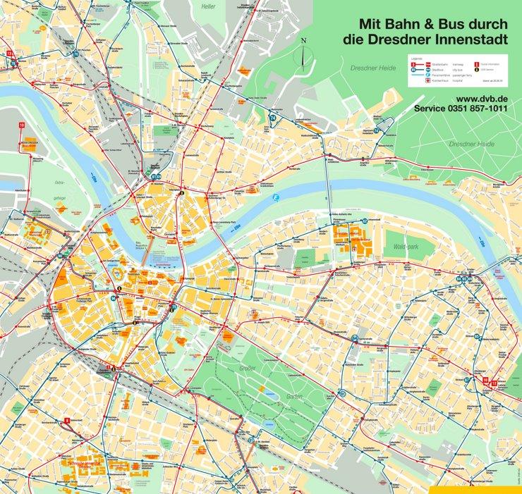 Stadtplan Dresden mit sehenswürdigkeiten