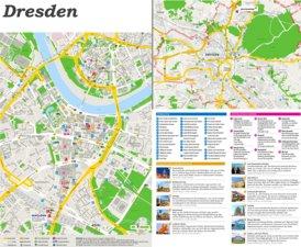 Touristischer stadtplan von Dresden
