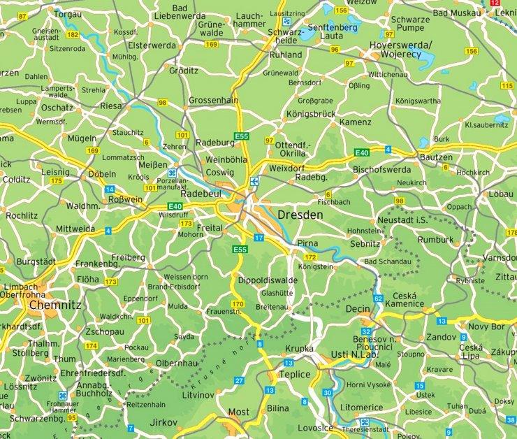 Umgebungskarte Dresden