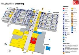 Duisburg Hauptbahnhof plan