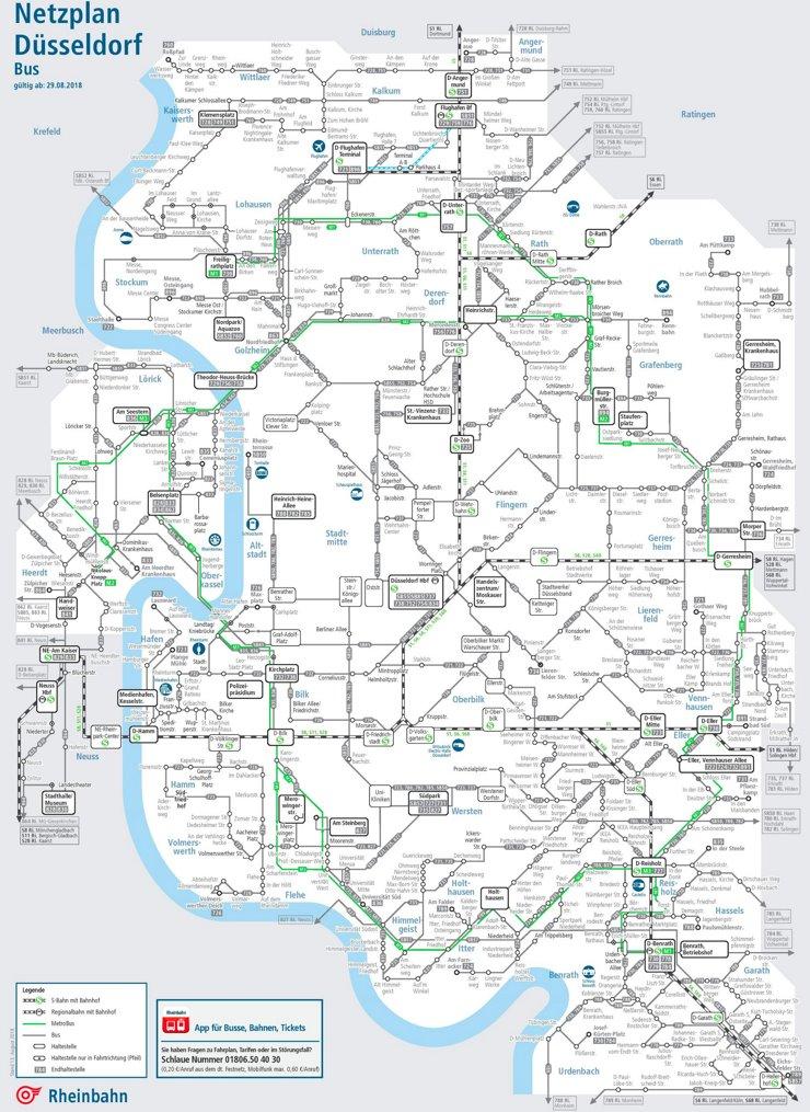 Busnetzplan Düsseldorf