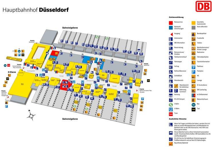 Düsseldorf Hauptbahnhof plan