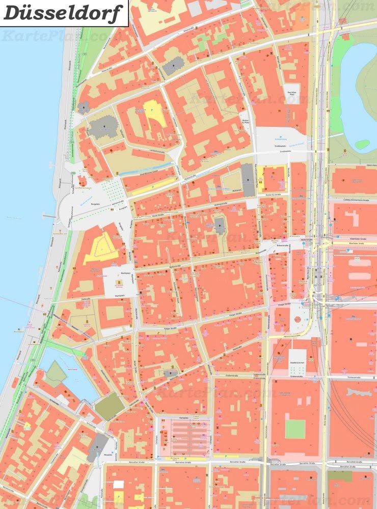 Karte von Düsseldorfer Altstadt