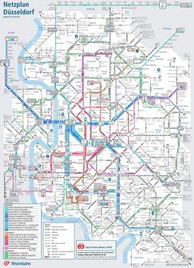 Liniennetzplan Düsseldorf