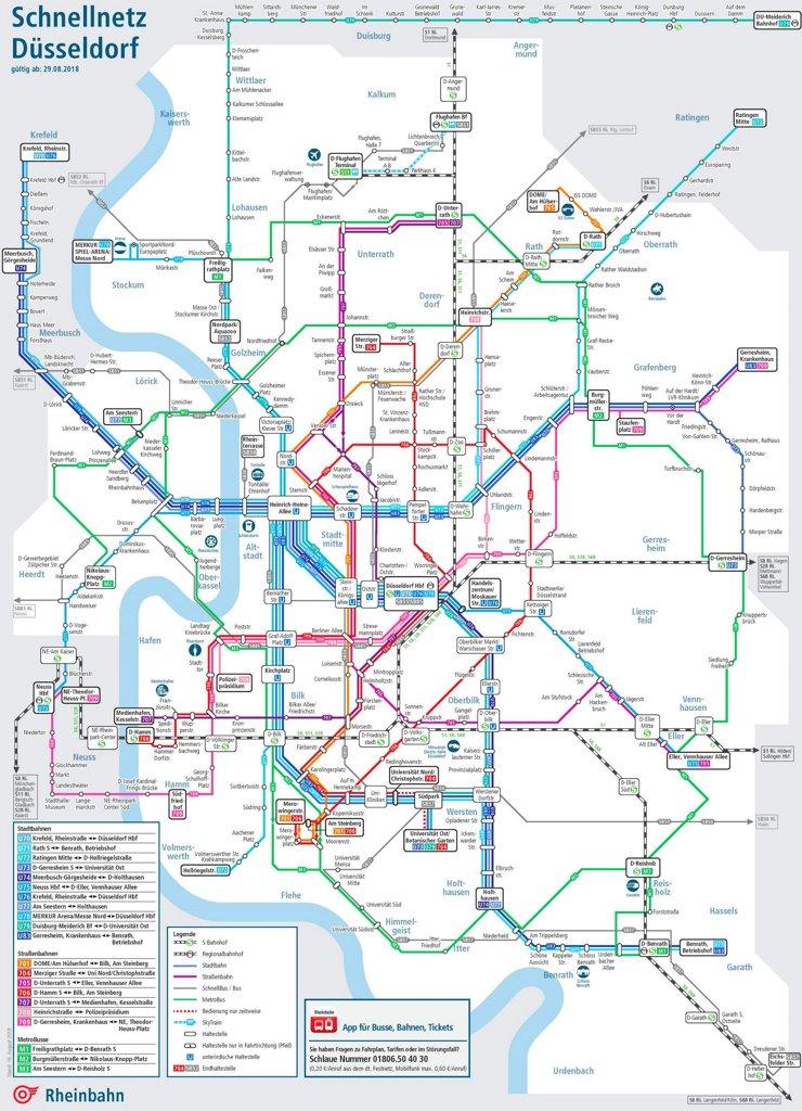 Schnellnetzplan Düsseldorf
