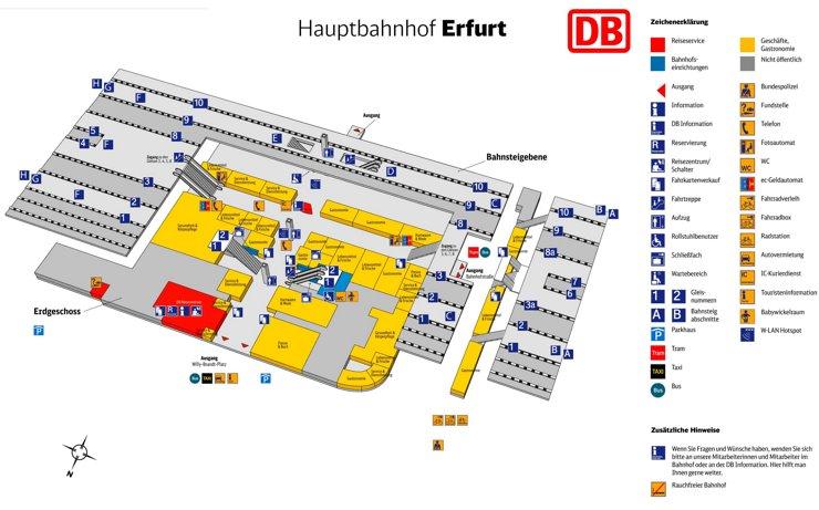 Erfurt Hauptbahnhof plan