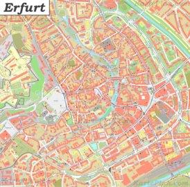 Karte von Erfurt-Altstadt
