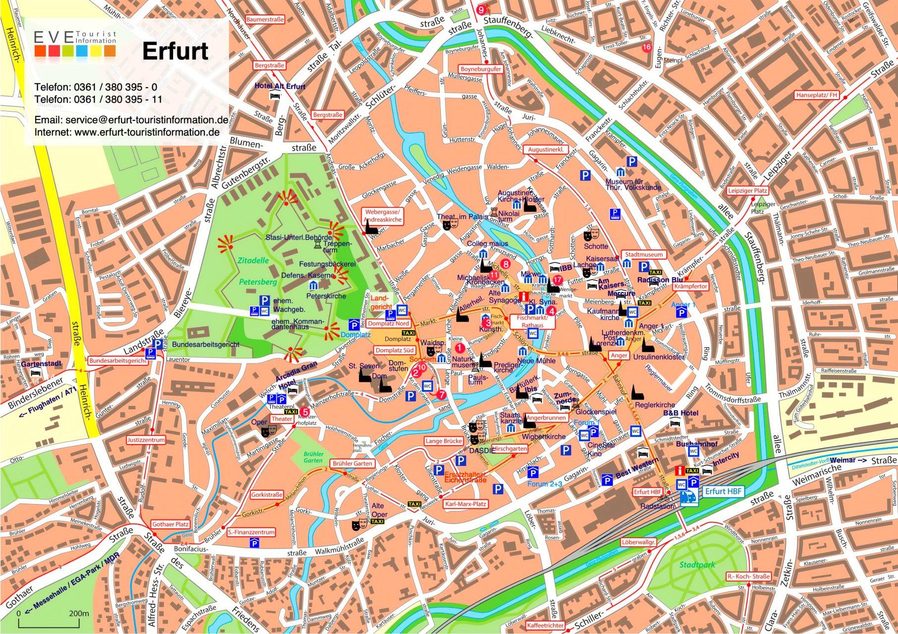 Erfurt Sehenswürdigkeiten Karte   Ungarn Karte