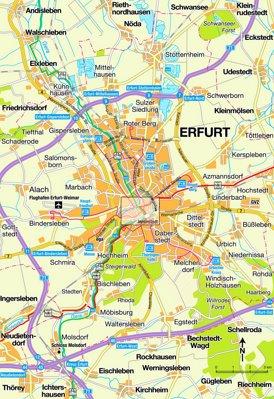 Umgebungskarte Erfurt