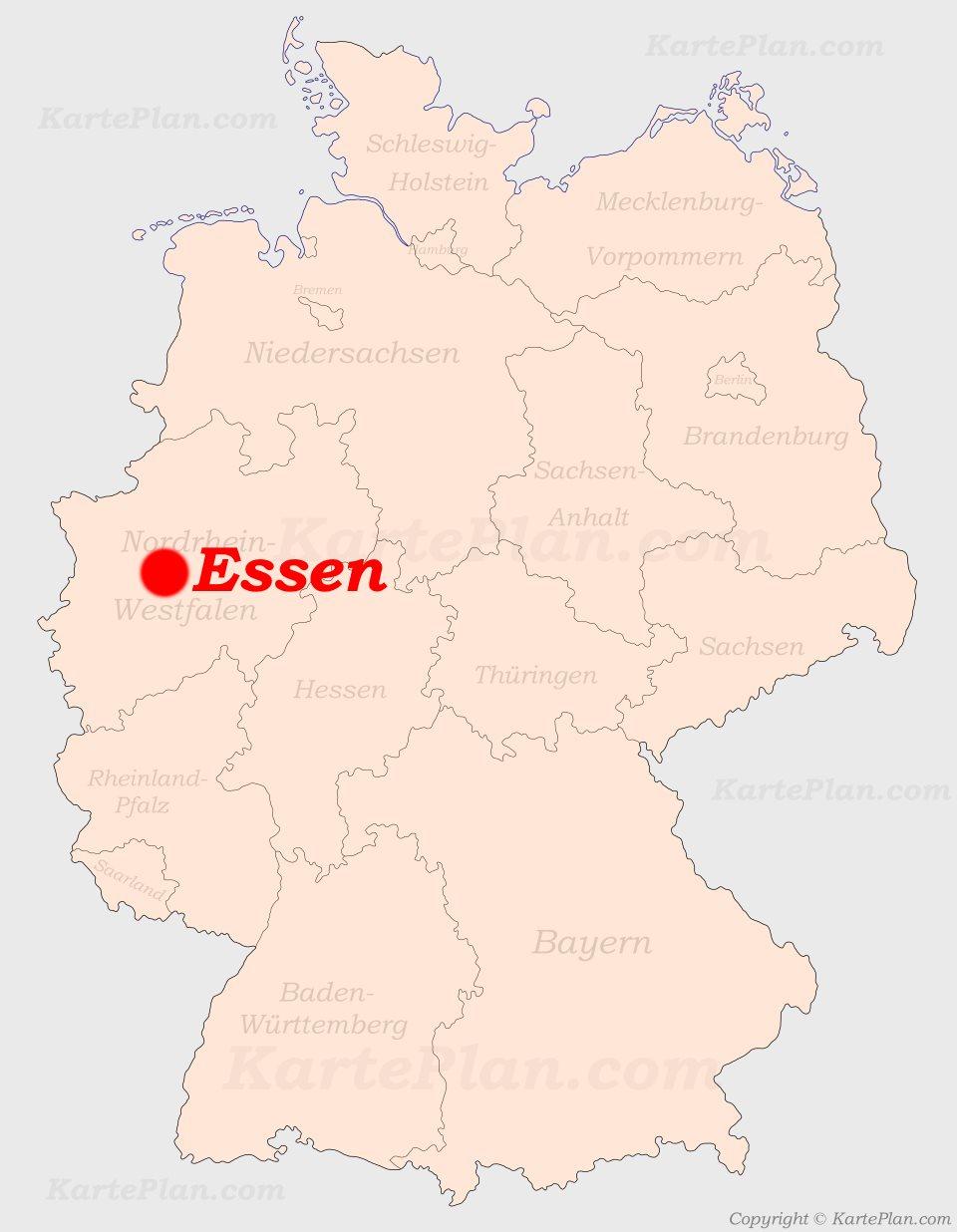 Essen Auf Der Deutschlandkarte