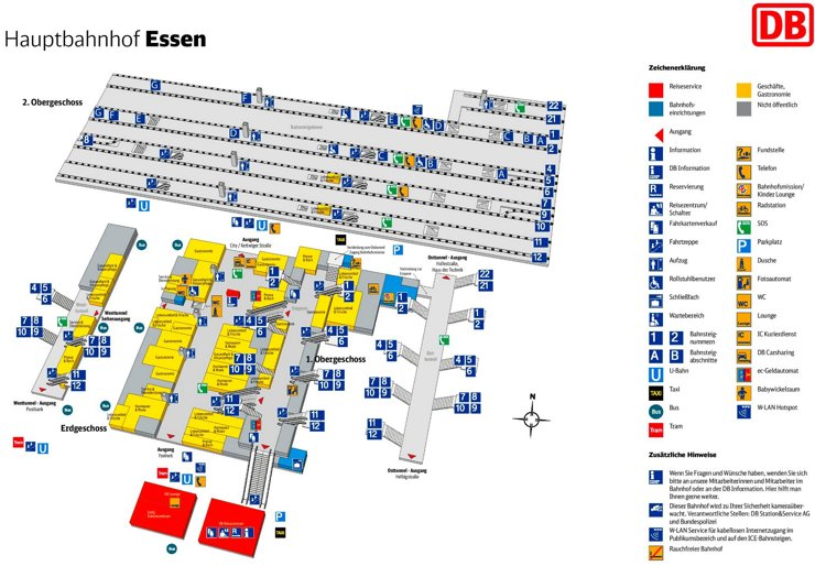 Essen Hauptbahnhof plan