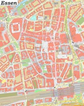 Karte von Essens Zentrum
