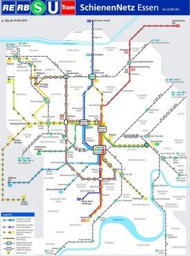 Schienennetzplan Essen